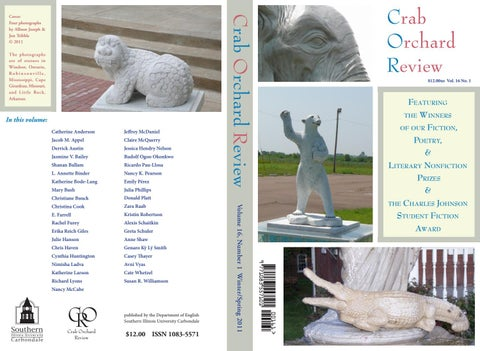 b0477088a0b20d Crab Orchard Review Vol 16 No 1 W/S 2011 by Crab Orchard Review - issuu