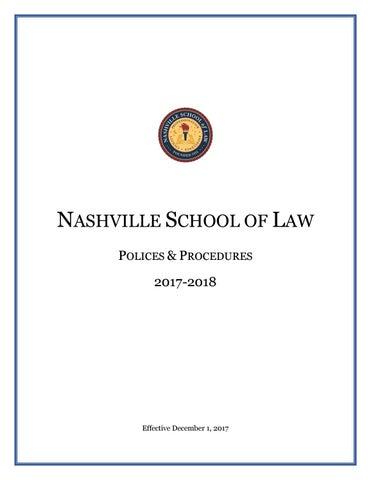 NSL Policies & Procedures Effective Dec  1 by Nashville