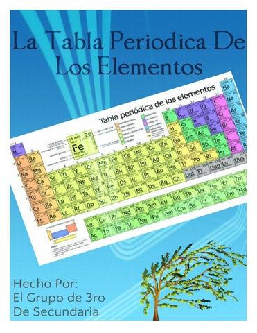 indice la clasificacin de la tabla peridica_____________________________________pg - Tabla Periodica De Los Elementos Secundaria
