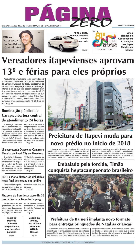 Página Zero Edição nº 1318 (17 11 2017) by Para acessar o seu Página Zero -  issuu a1e4903223