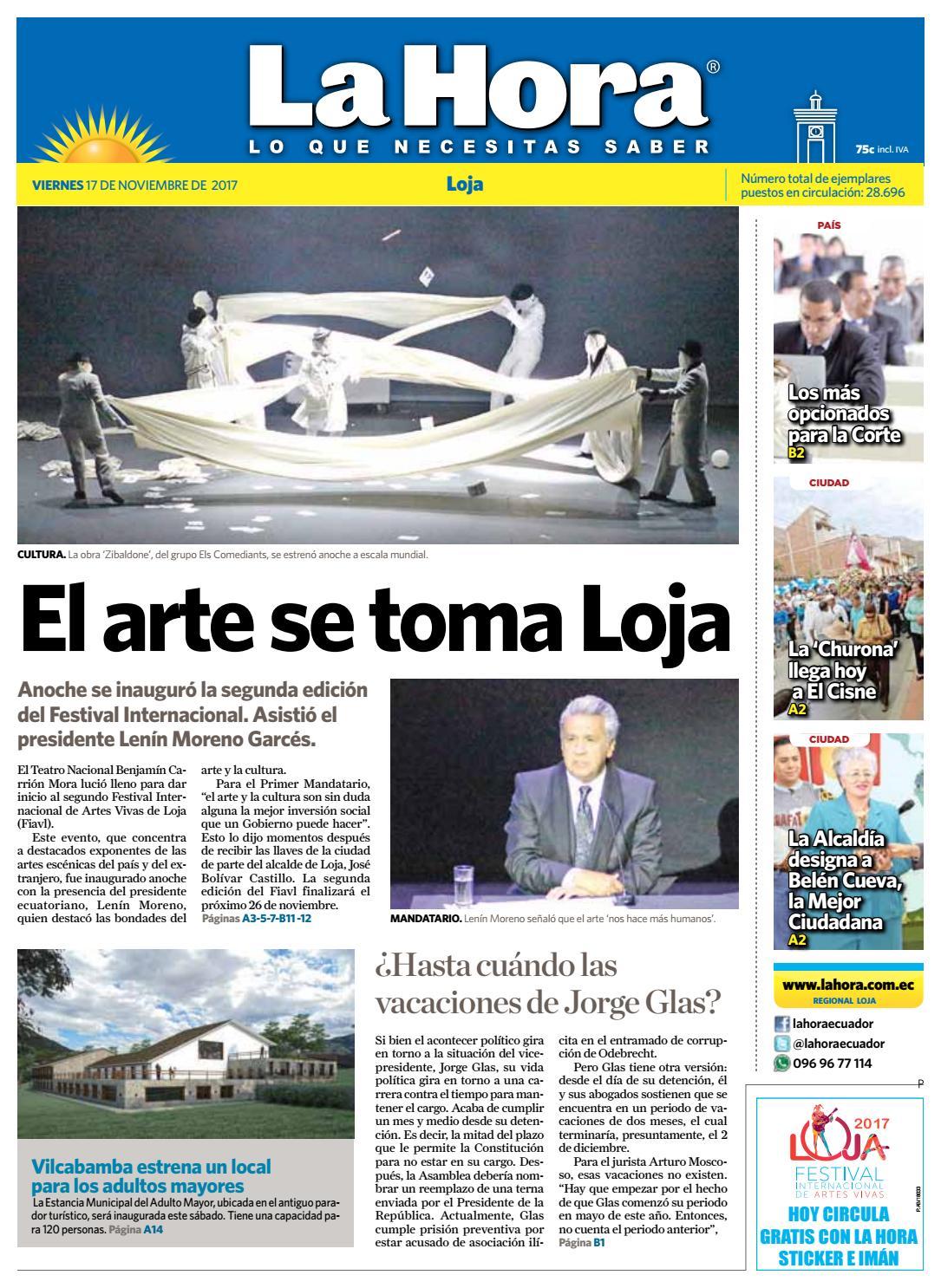 Diario La Hora Loja 10 De Noviembre 2017 By Diario La Hora Ecuador  # Muebles Moya Loja