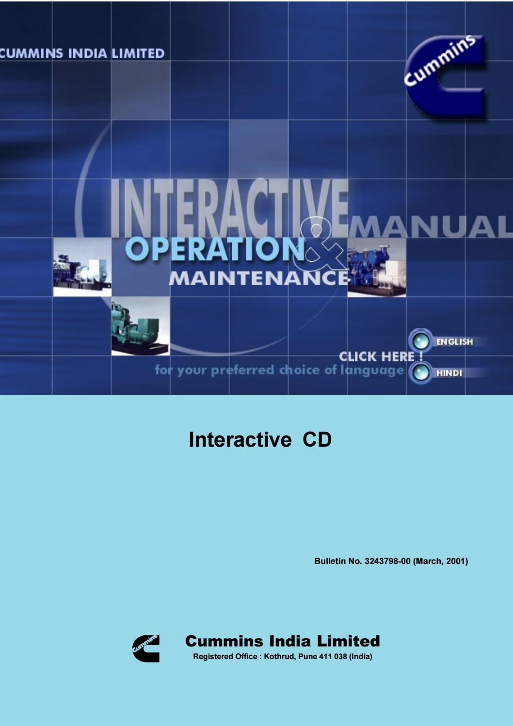 VTA Engines Operation & Maintenance Interactive CD by Power