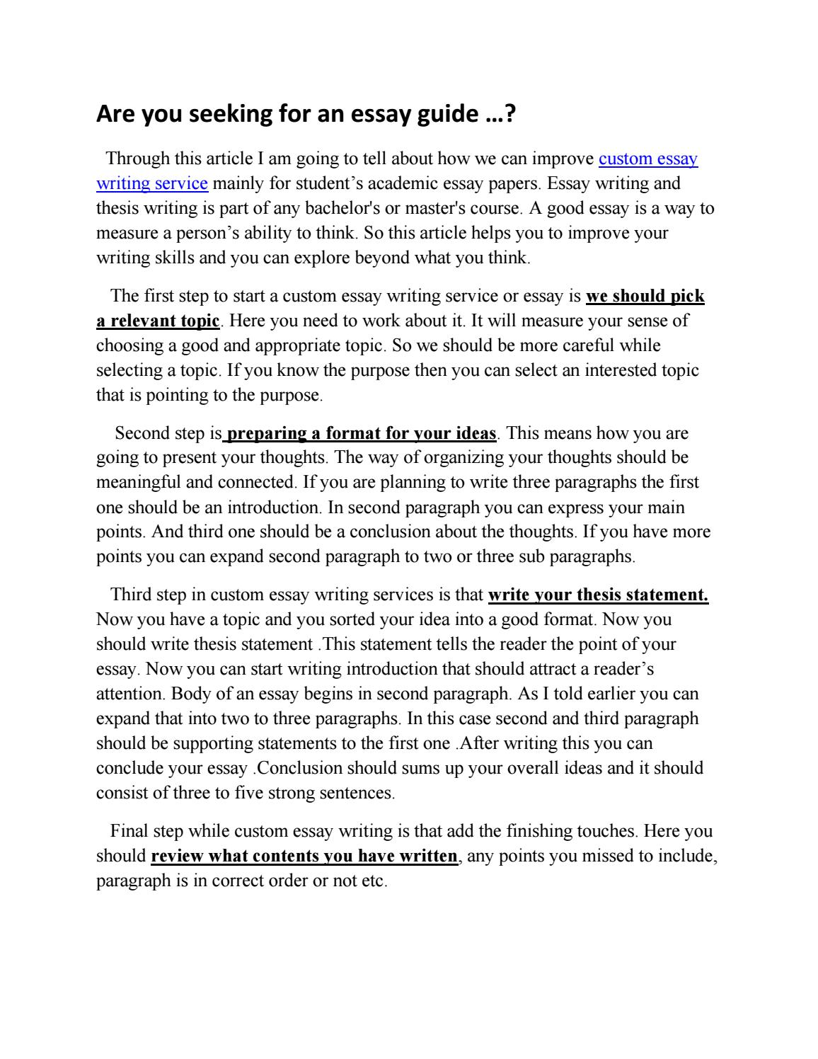 Essay Vs Research Paper  How To Write An Application Essay For High School also Synthesis Essay Topic Ideas Custom Essay Writing Service By Essay Creative  Issuu English Essay Introduction Example