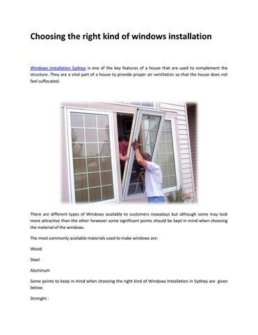 Page 1 Choosing The Right Kind Of Windows Installation