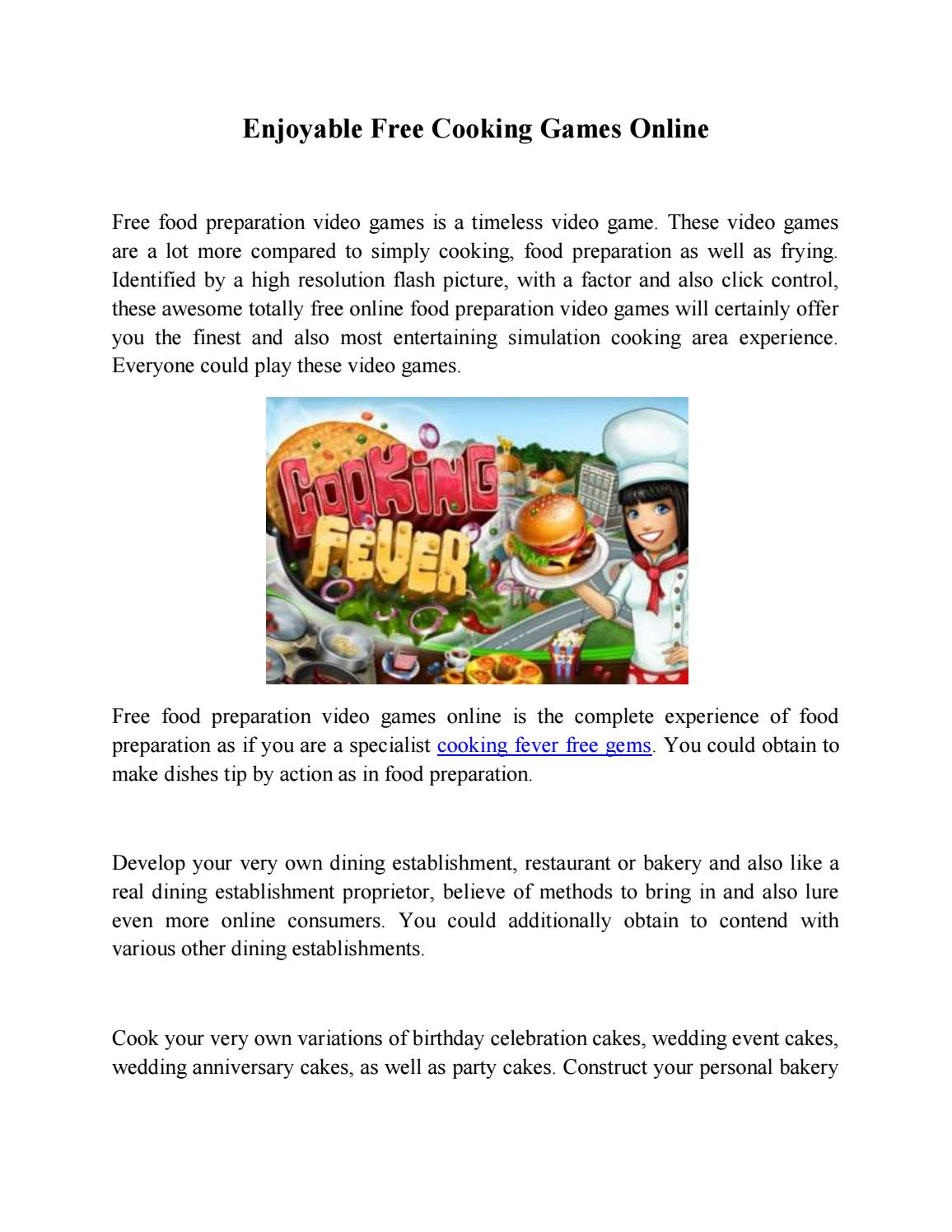 Enjoyable free cooking games online by dalelindsey - issuu