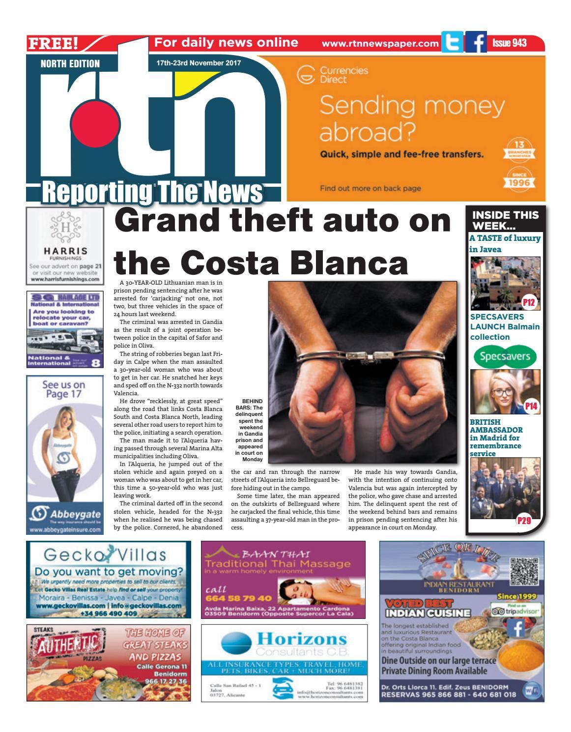 Rtn Newspaper Costa Blanca North 17 23 November 2017 Issue 943 Arnaude Sandals Pink By Euro Weekly News Media Sa Issuu