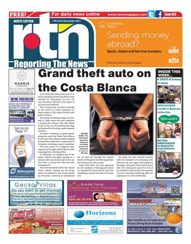3ca71b24ae59 RTN Newspaper - Costa Blanca North 17 - 23 November 2017 Issue 943 ...