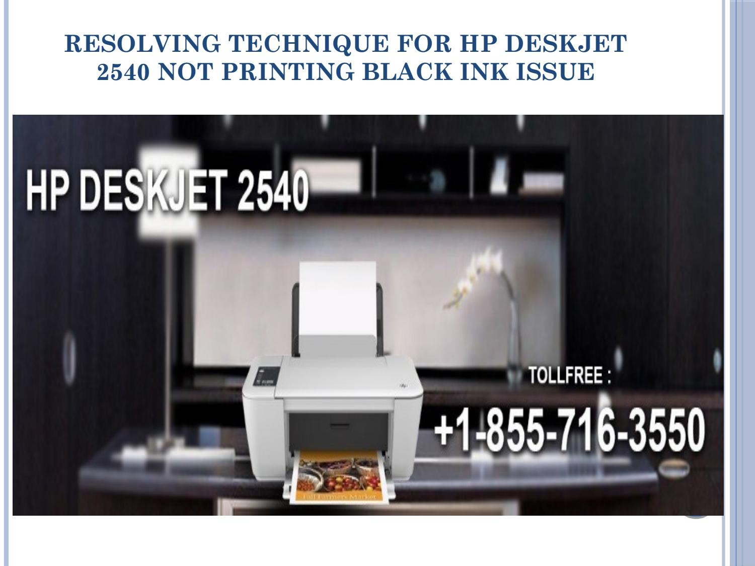 Resolving HP DeskJet 2540 not Printing black Ink Errors by 123-HP-dj