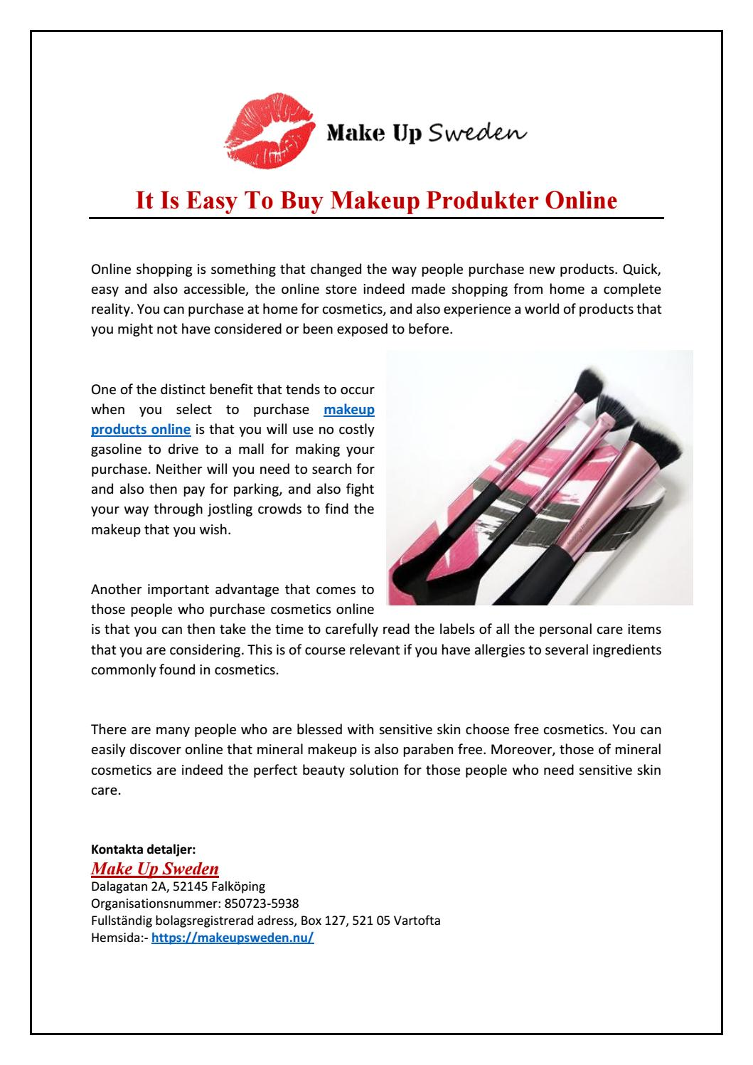It Is Easy To Makeup Produkter