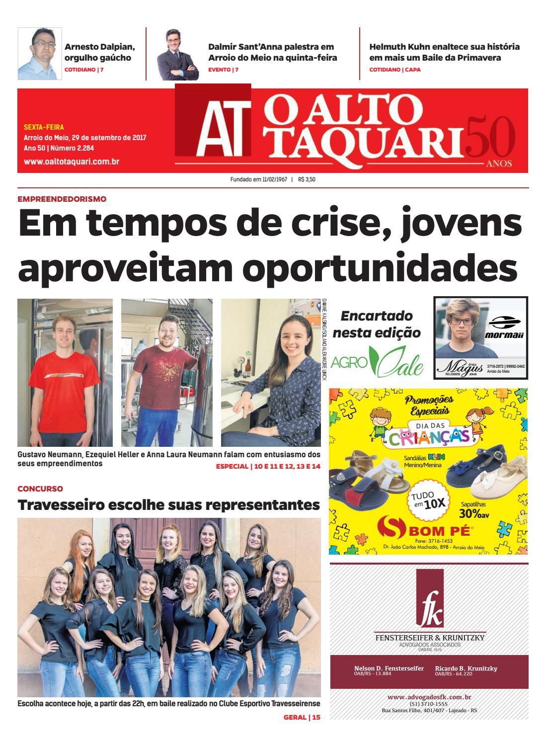 d9042ccea2a Jornal O Alto Taquari - 29 de setembro de 2017 by Jornal O Alto Taquari -  issuu