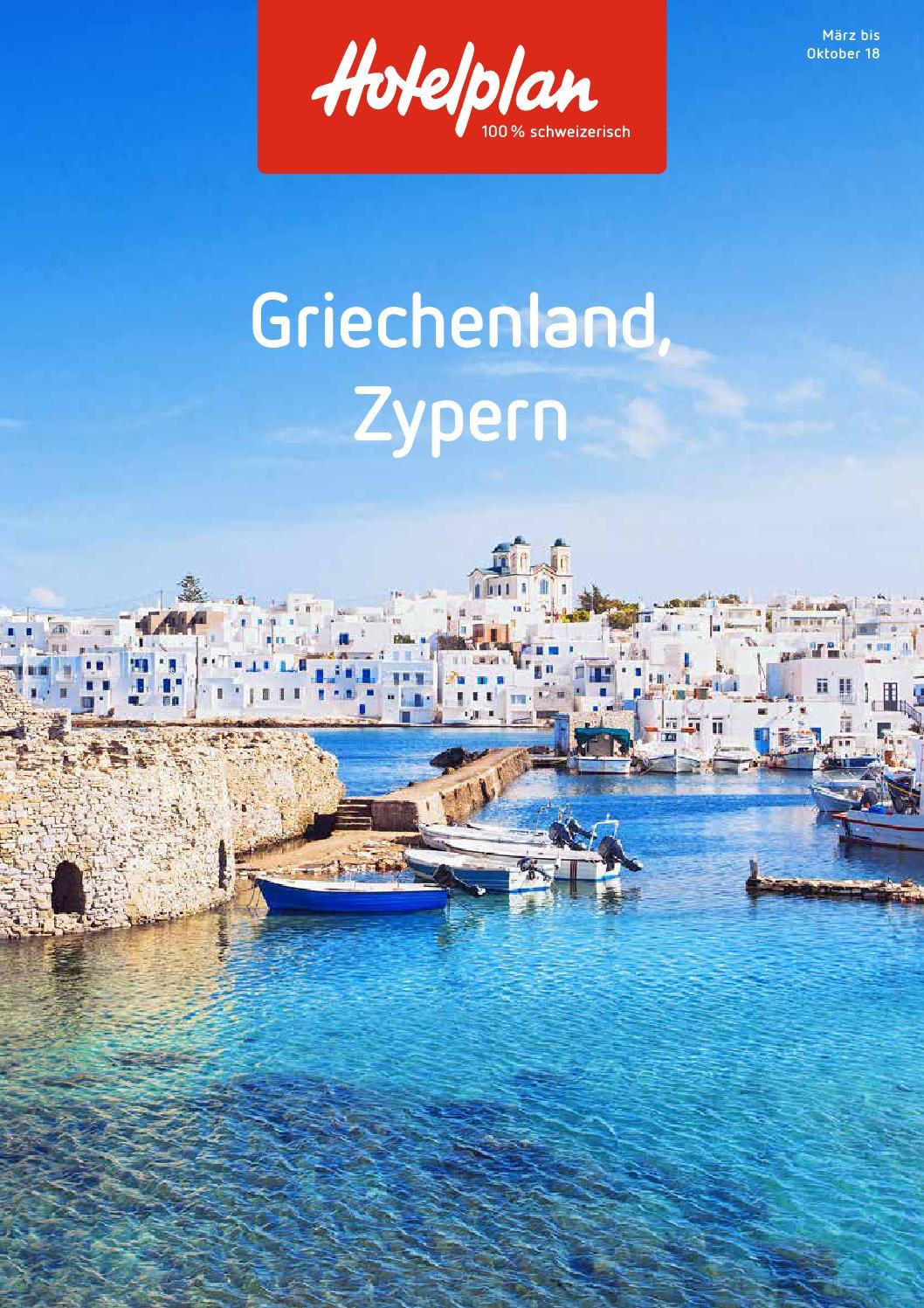 Hotelplan Griechenland, Zypern – 2018 by Hotelplan Suisse (MTCH AG ...