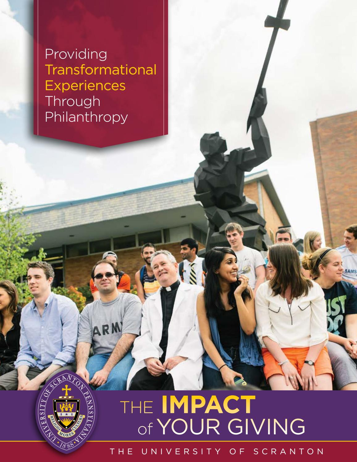 The University Of Scranton 2017 Philanthropy Impact Report & Annual