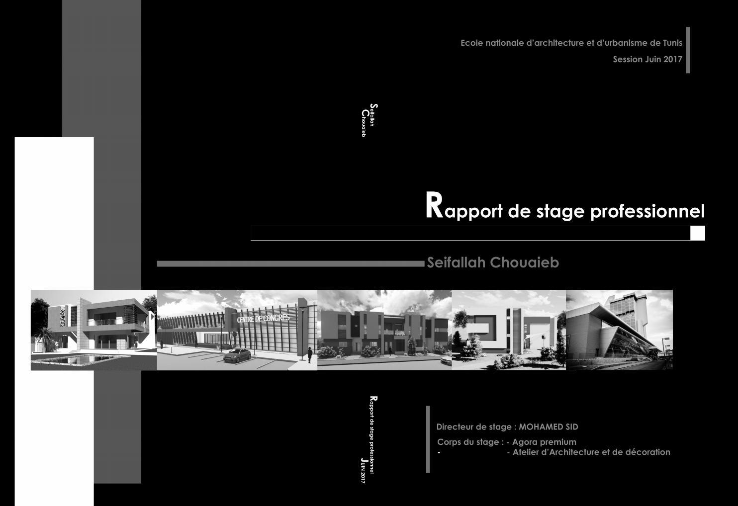 Rapport de stage professionnel en architecture seifallah chouaieb