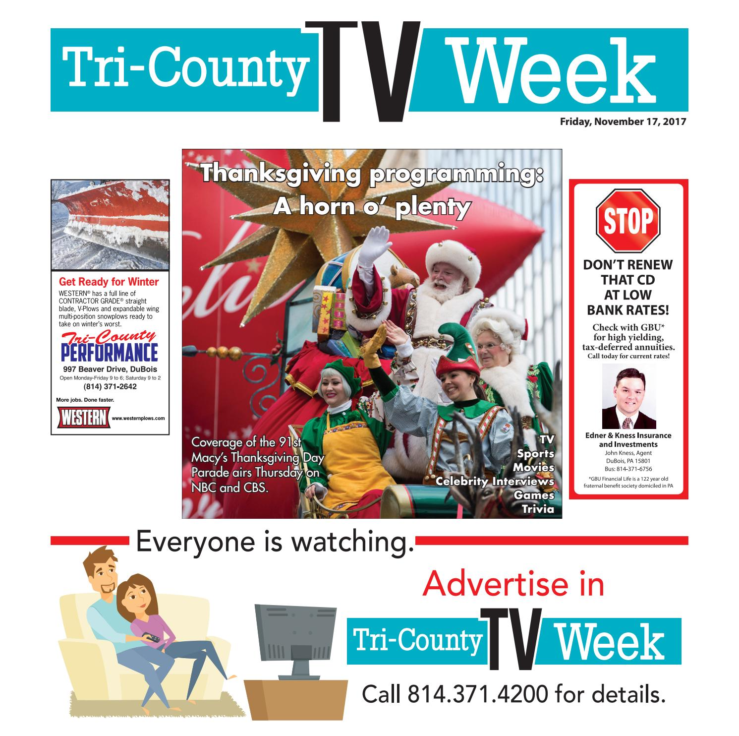 foto de TV Week 11/17/2017 by Tri-County TV Week - issuu