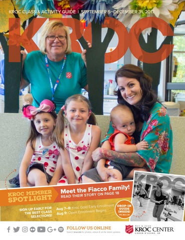The Salvation Army Kroc Center 2017 Fall Class Activity Guide By