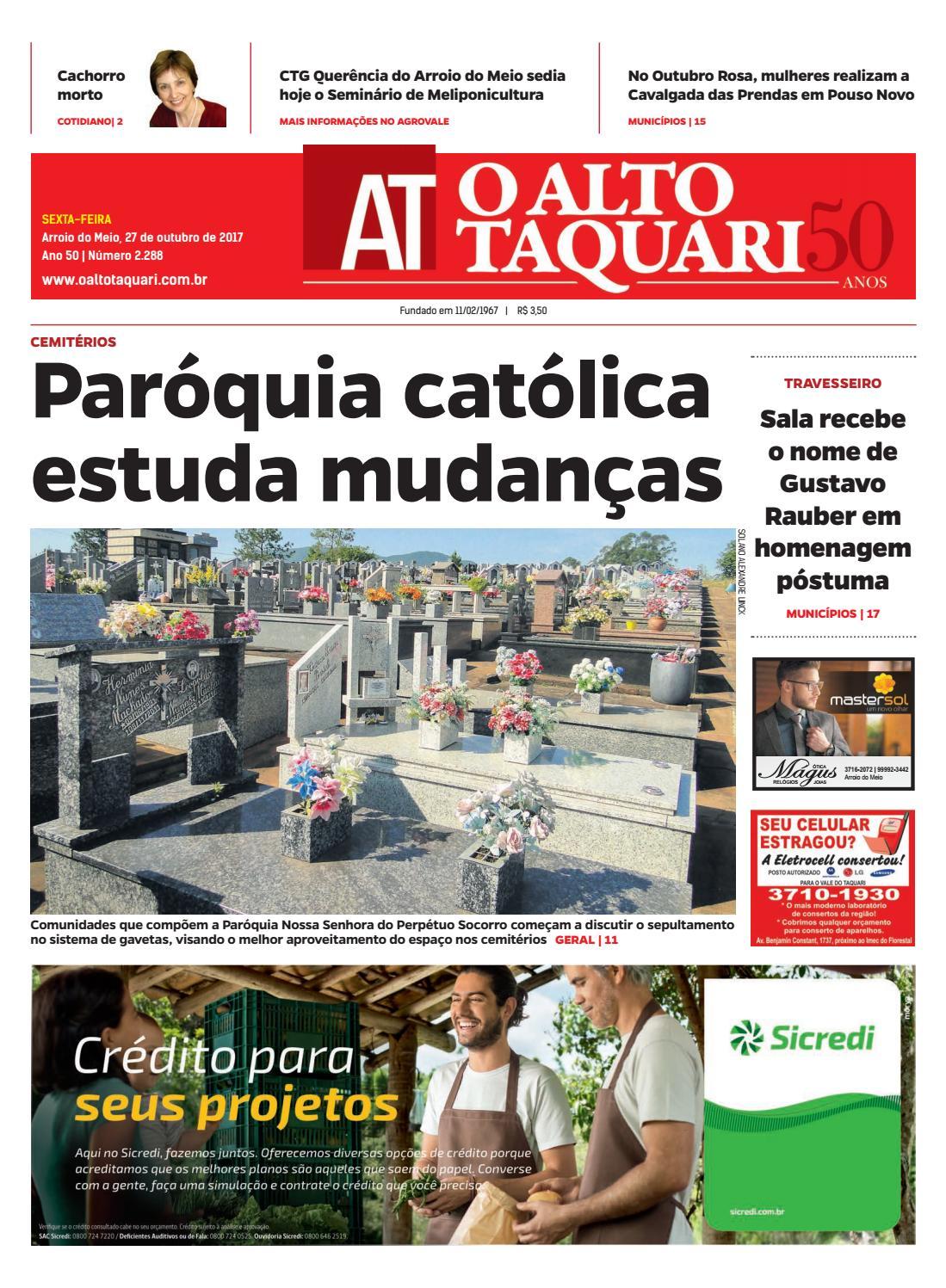 46cad54804 Jornal O Alto Taquari - 27 de outubro de 2017 by Jornal O Alto Taquari -  issuu