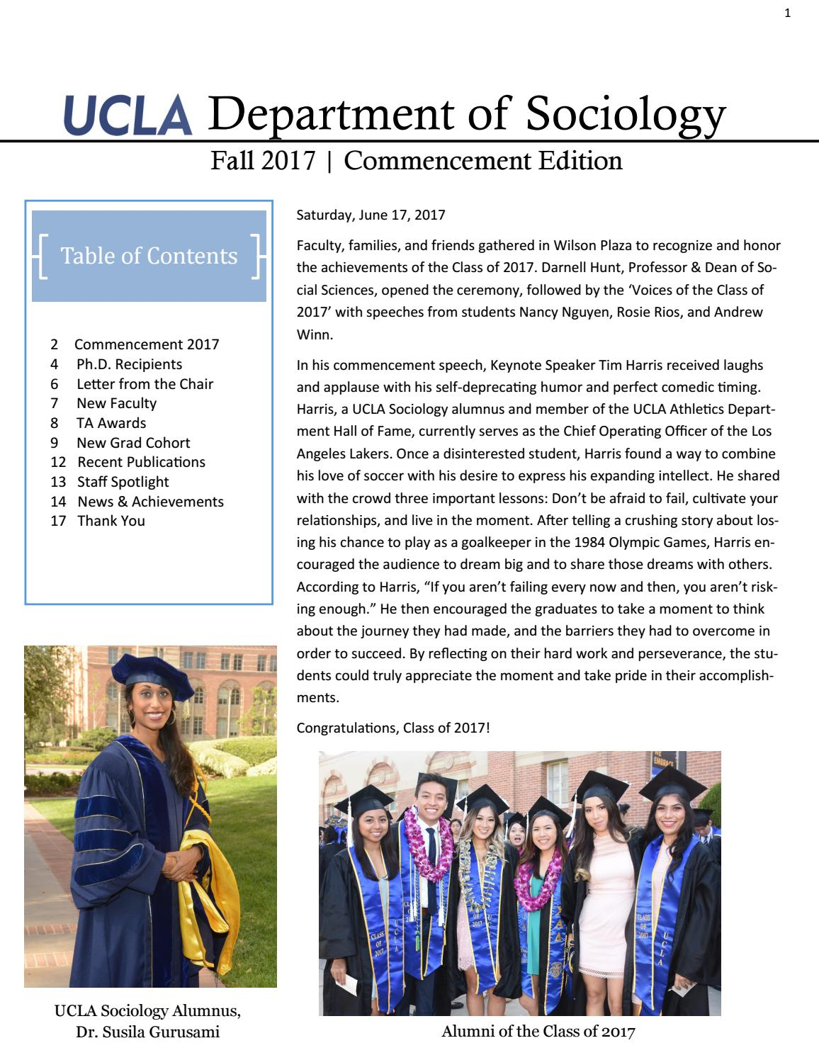 2017 Fall Newsletter By Ucla Issuu