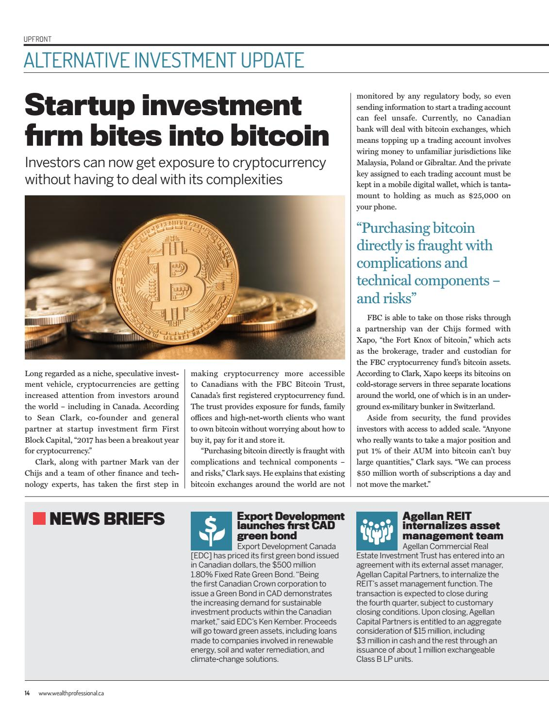 cryptocurrency capital investment firm regulations