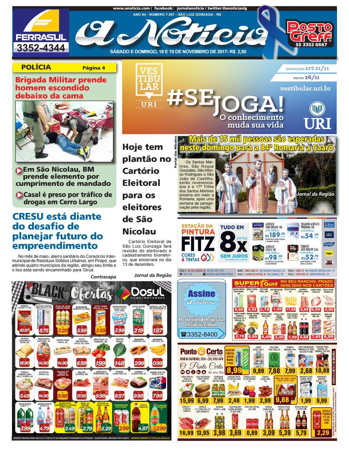 Edição de 18 e 19 de Novembro de 2017 by Jornal A Notícia - issuu 565ba9ec31ab8