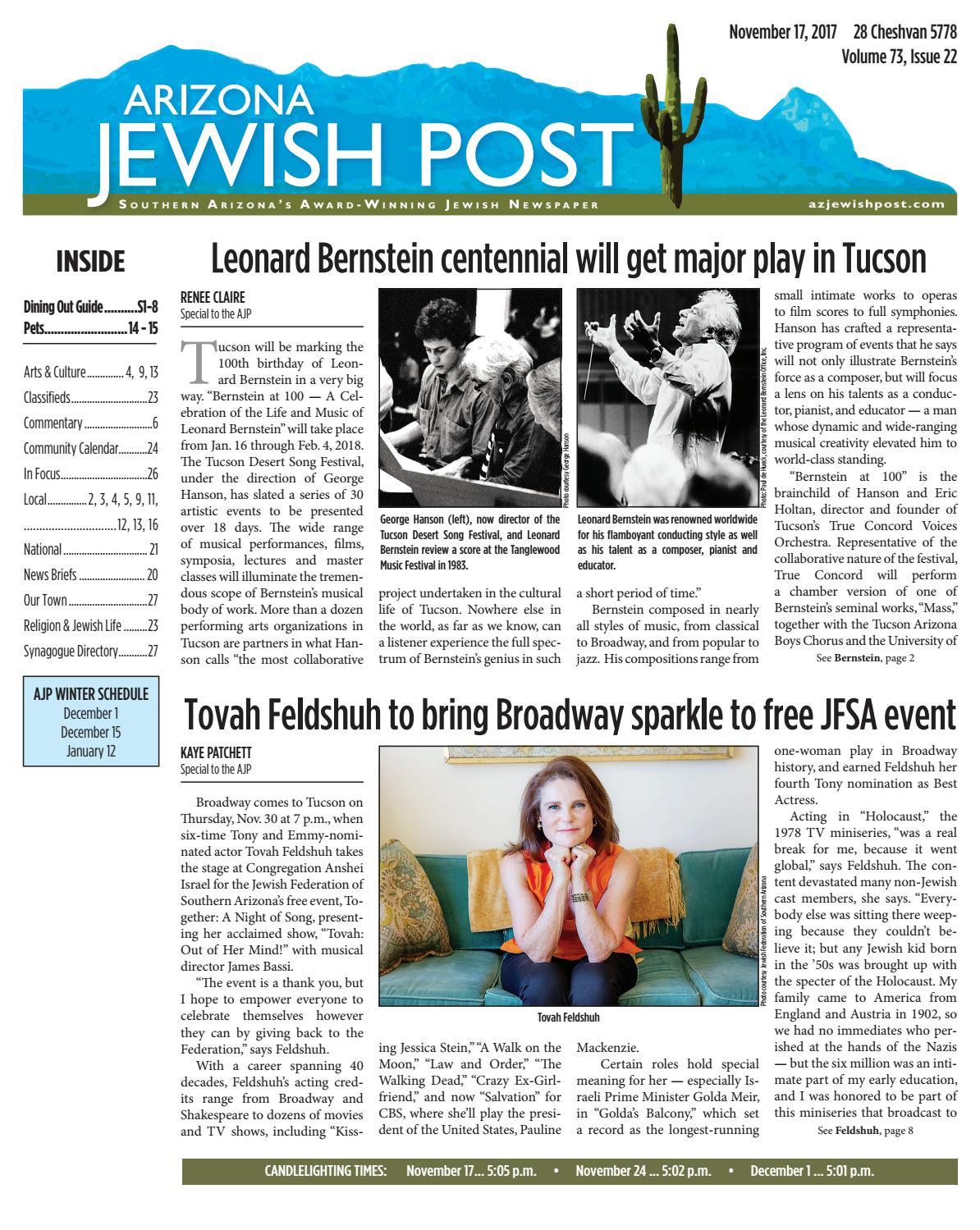 e78b24af433 Arizona Jewish Post 11.17.2017 by Arizona Jewish Post - issuu