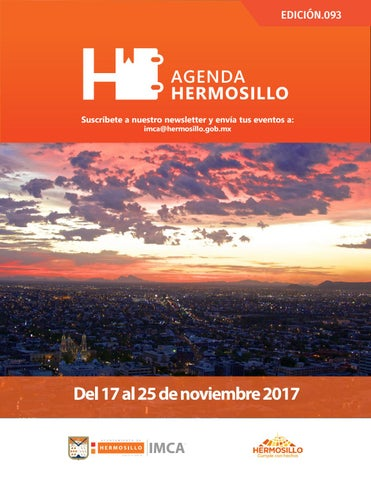 "Cover of ""Agenda hermosillo 17nov2017"""