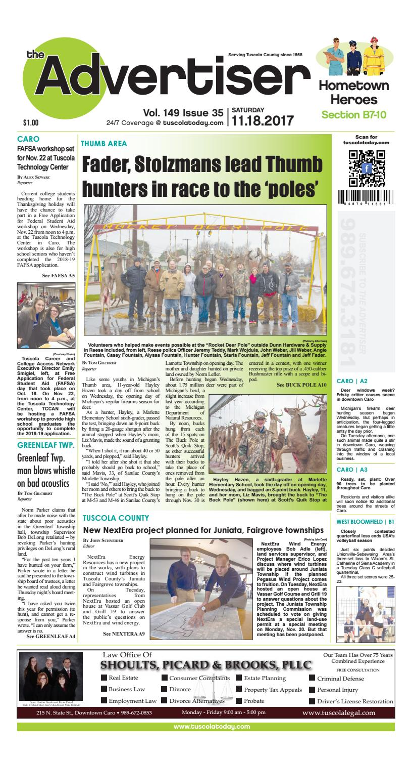 15483c5cff Tca 11 18 17 all pages by Tuscola County Advertiser - issuu