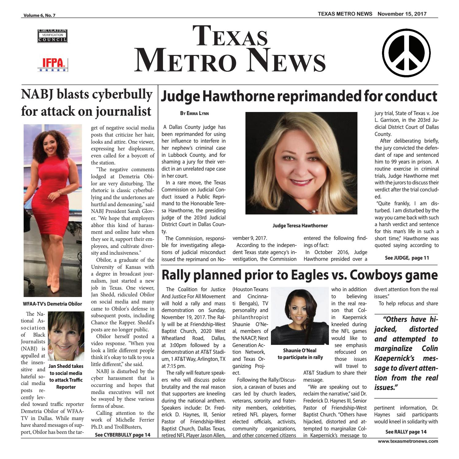 Texas metro news 11 15 17 by Cheryl Smith - issuu