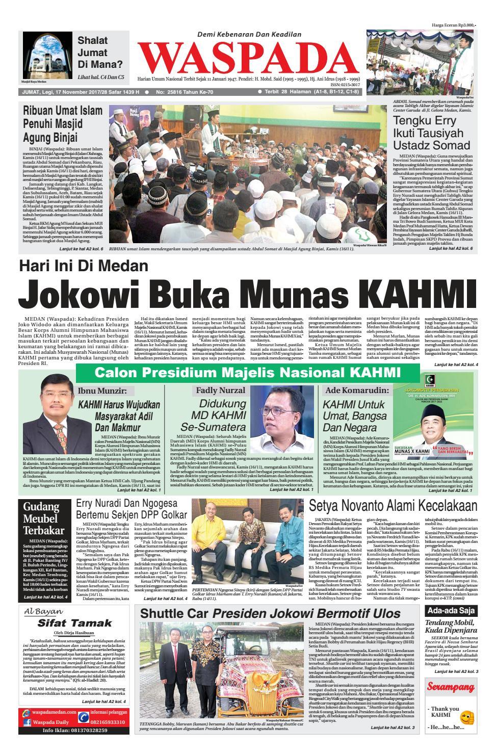 Waspada Jumat 17 November 2017 By Harian Waspada Issuu