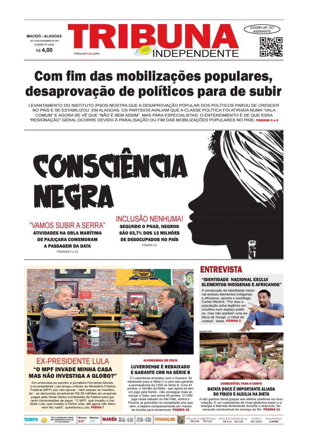 bb254d01cf Edição número 3026 - 18 e 19 de novembro de 2017 by Tribuna Hoje - issuu