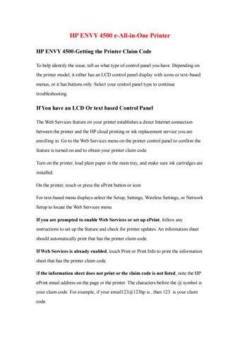 Hp envy 4500 e by ww123hp com - issuu