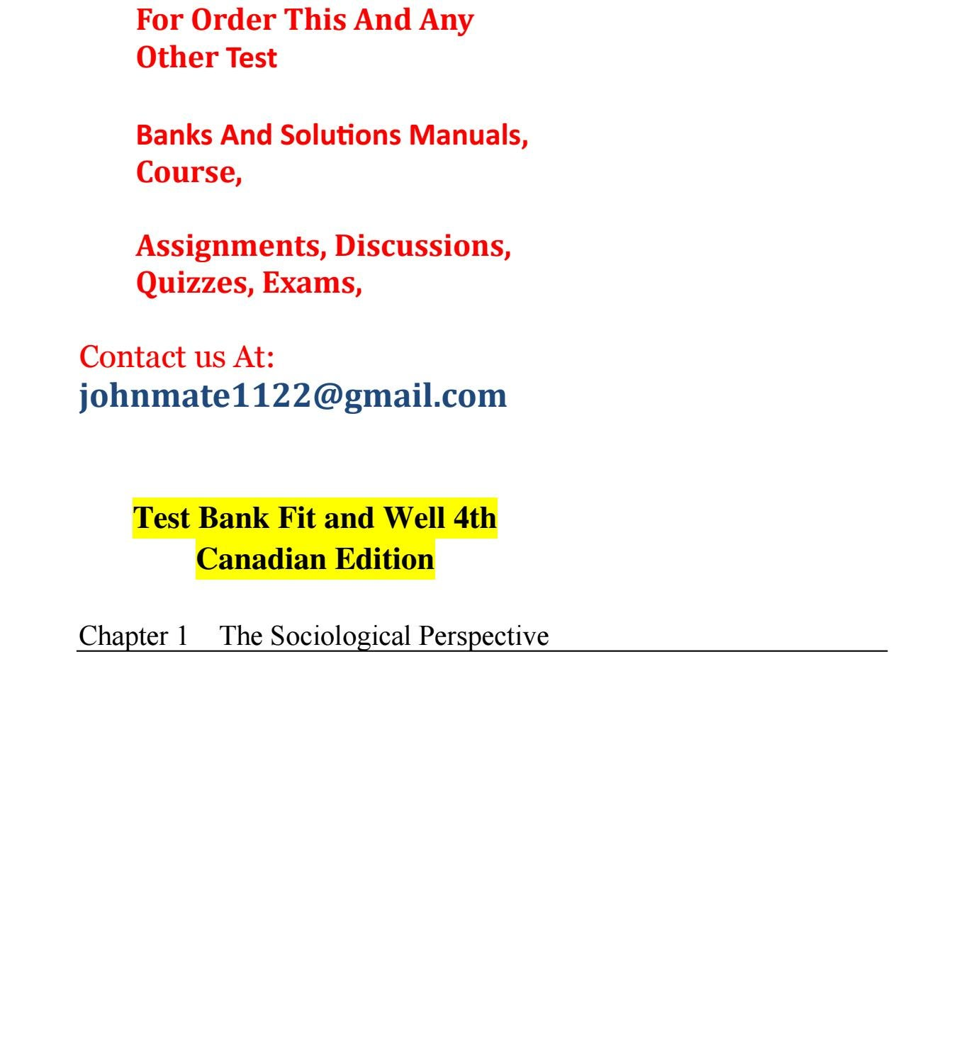 test 20bank 20essentials 20of 20sociology 20a 20down 20to 20earth rh issuu com
