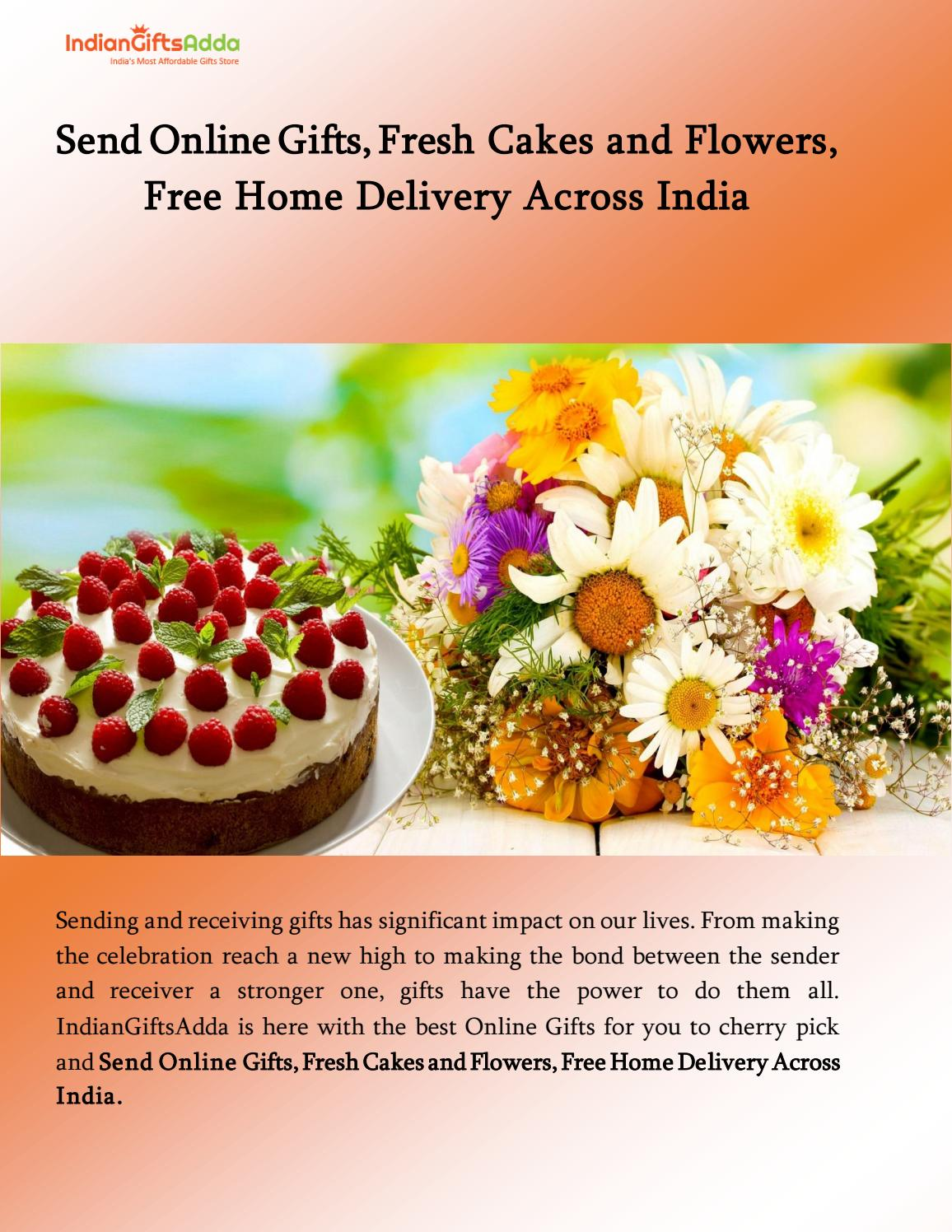 Send online gifts fresh cakes and flowers free home delivery send online gifts fresh cakes and flowers free home delivery across india by indiangifts adda issuu izmirmasajfo