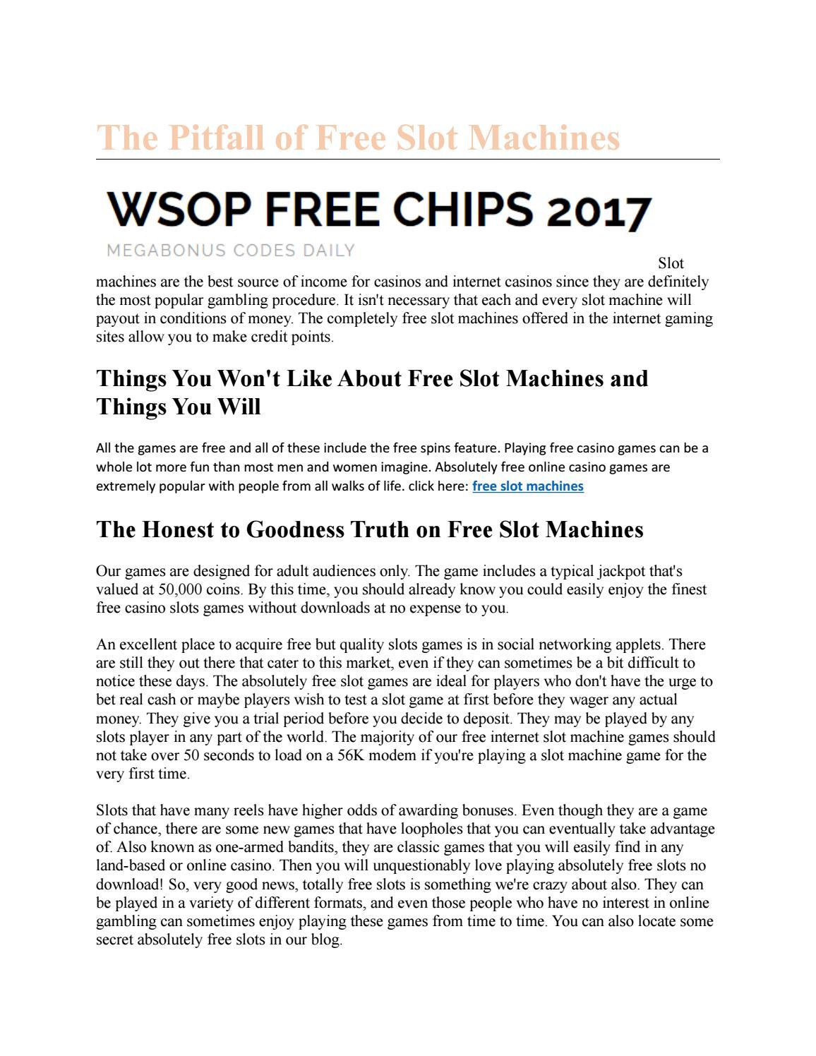 The Pitfall Of Free Slot Machines By Michaelwenn Issuu