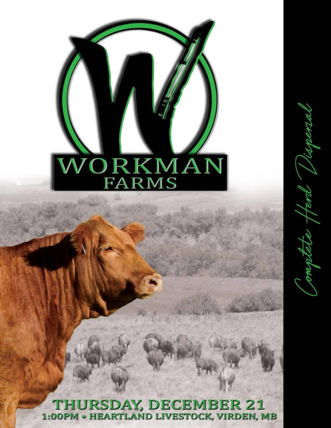 Workman Farms Complete Dispersal by Transcon Livestock Corp