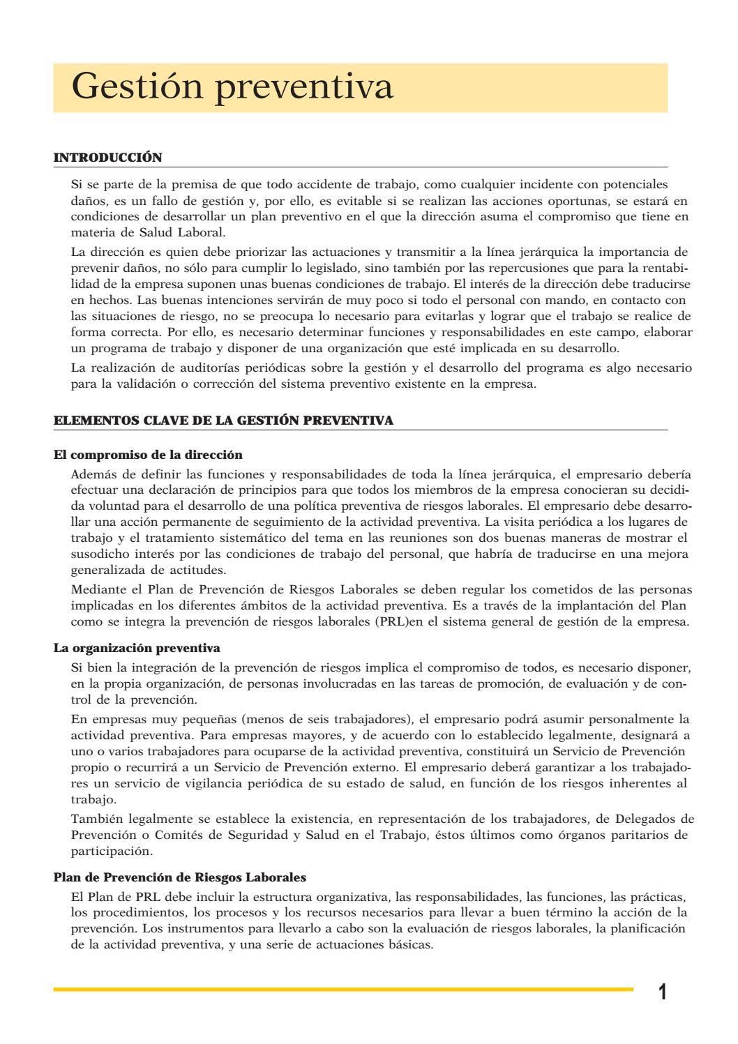 Gestion prevencion%20riesgos %5b%5d by Jose Manuel Perulero - issuu