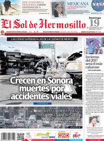e42c74db1bce Edición 19 de noviembre by El Sol de Hermosillo - issuu