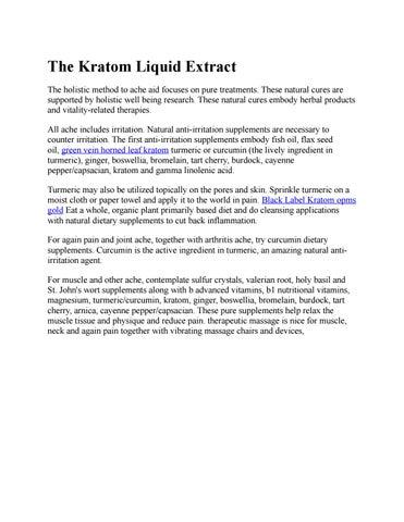 Black Label Kratom by Black Label Kratom - issuu