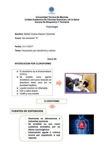 intoxicacion por cloroformo sintomas de diabetes