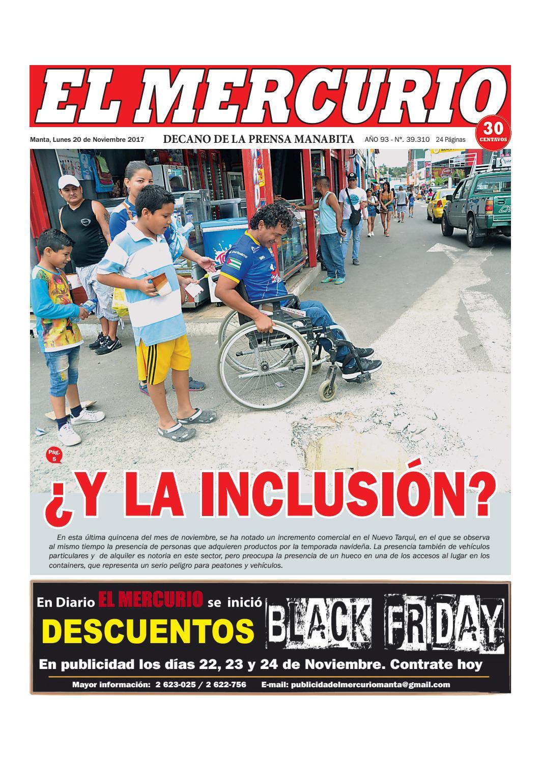 LUNES 20 DE NOVIEMBRE 2017 by Diario El mercurio - issuu