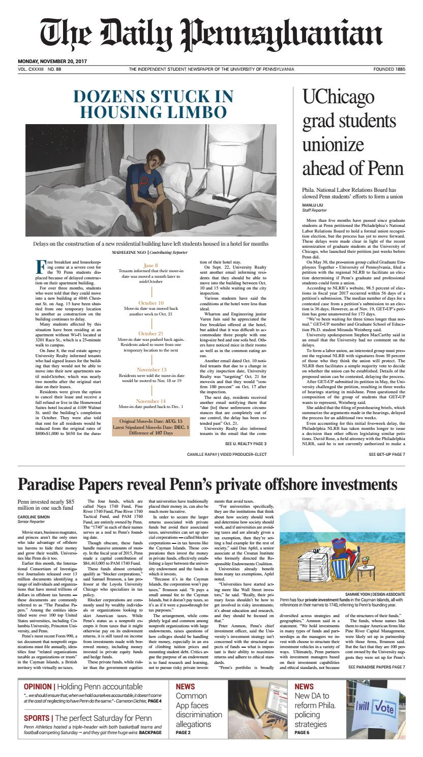 November 20, 2017 by The Daily Pennsylvanian - issuu