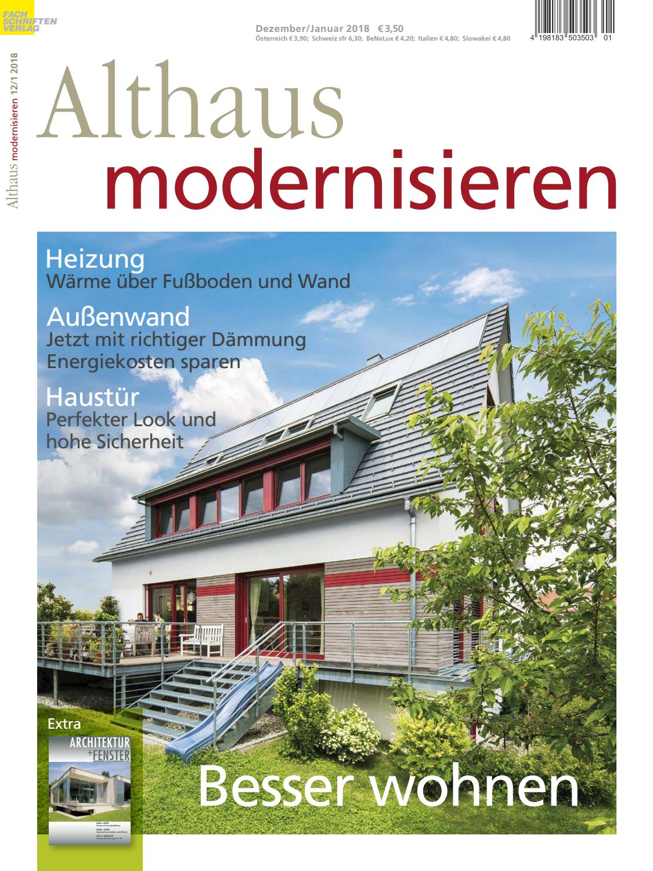 Althaus modernisieren 12/1-2018 by Fachschriften Verlag - issuu