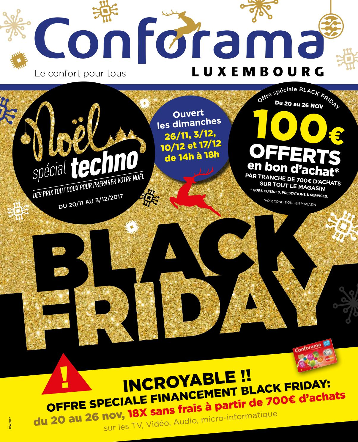 Doc 05 black friday by conforama luxembourg issuu for Conforama black friday