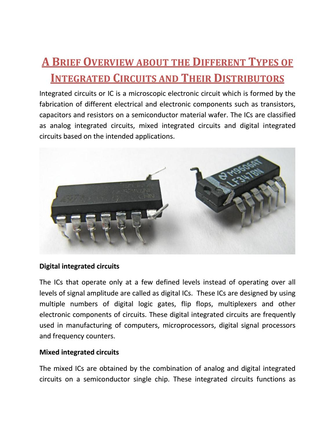 A brief overview about the different types of integrated circuits