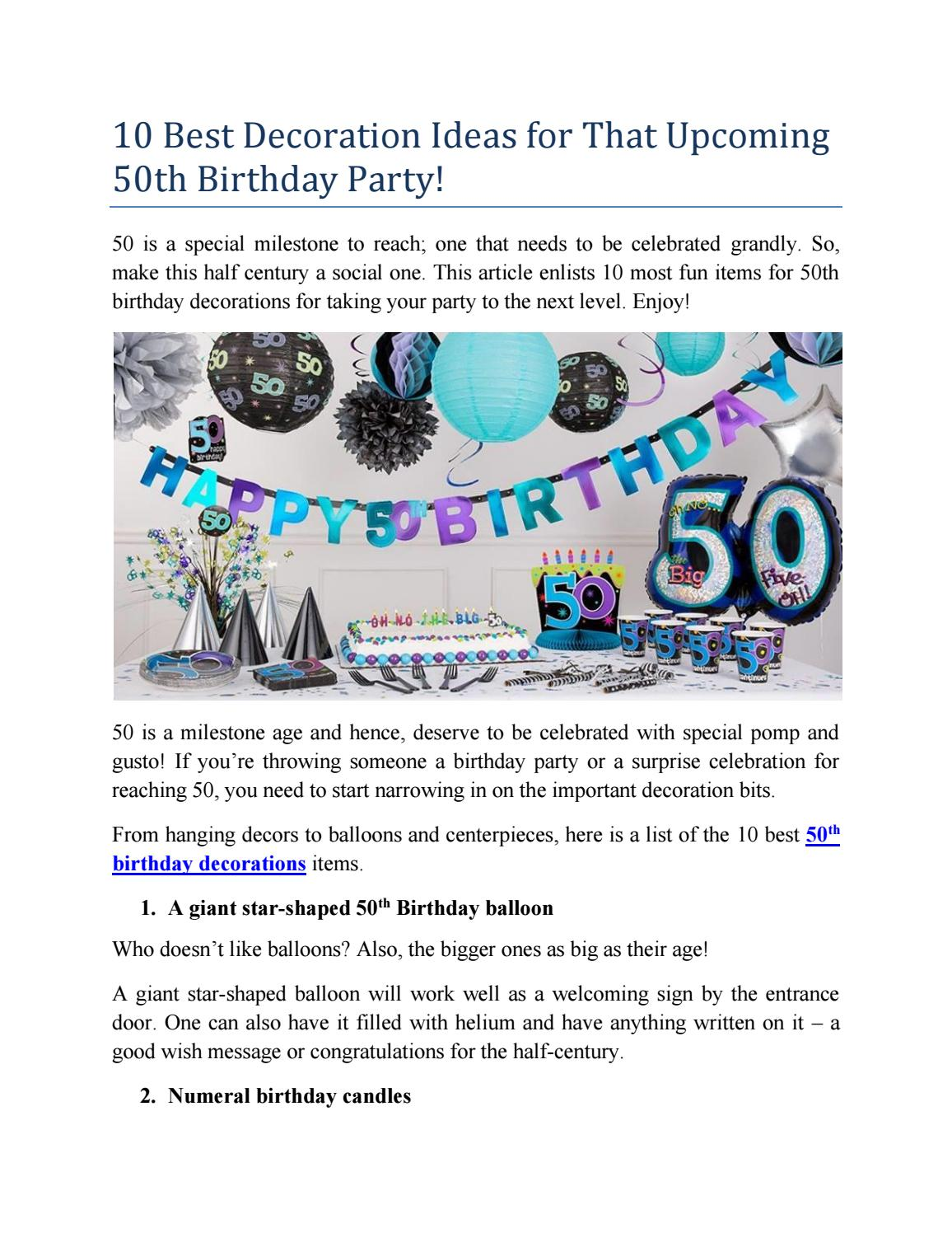 10 Best Decoration Ideas For That Upcoming 50th Birthday Party