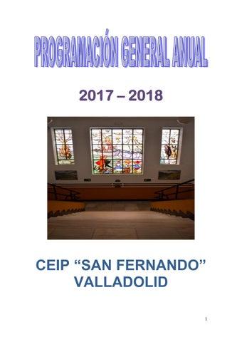 PROGRAMACIÓN GENERAL ANUAL 2017-2018 by 47003465@educa.jcyl ...