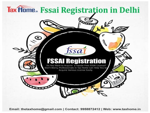 Image result for fssai registration tax home
