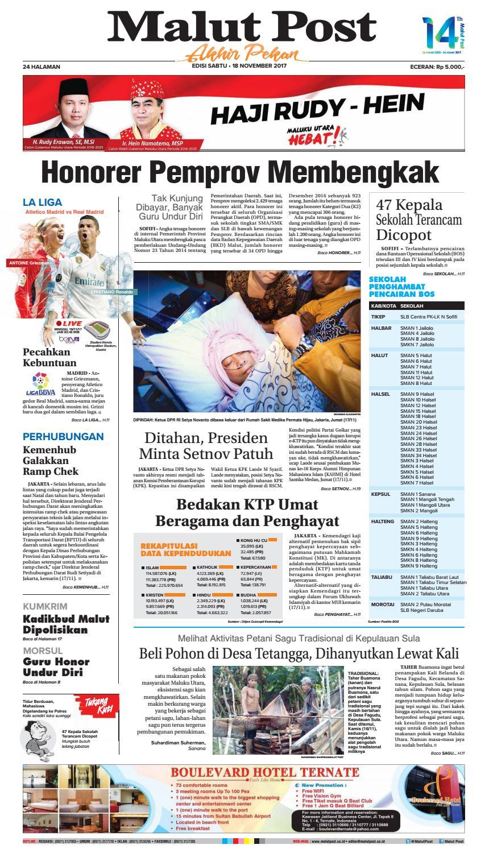 Malut Post 18 November 2017 By Issuu Alat Cuci Hidung Untuk Penderita Sinus Peradangan Sudah Termasuk Garam Pharmasalt