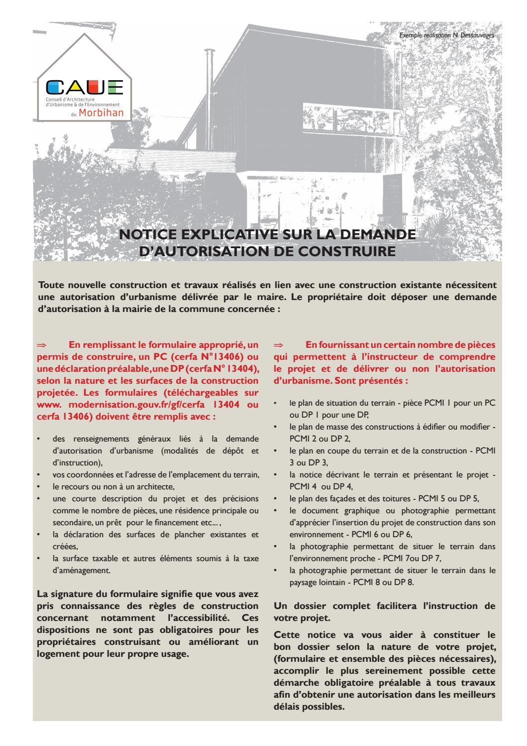 Notice explicative sur la demande d 39 autorisation de for Cerfa 13406