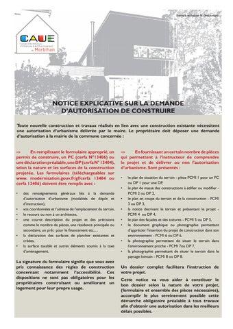 Notice Explicative Sur La Demande D Autorisation De