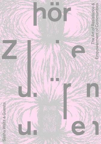 ZUHOEREN 2017 - Complete program by Sasha Waltz & Guests GmbH - issuu